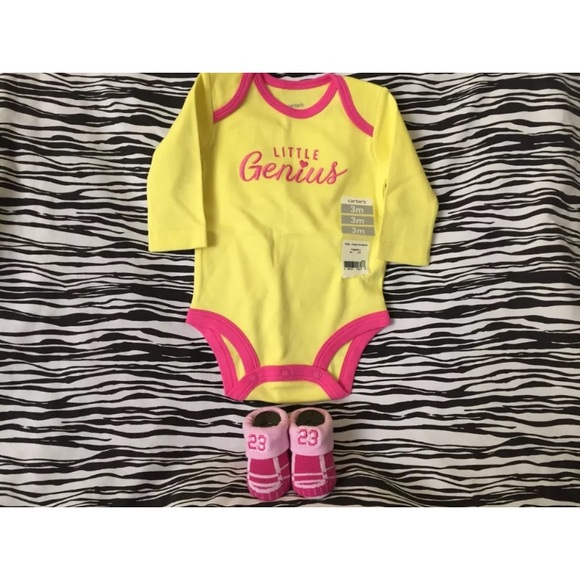 4ddc2fd49bc453 INFANT NIKE AIR JORDAN BABY BOOTIES 0-3M ONESIE 3M